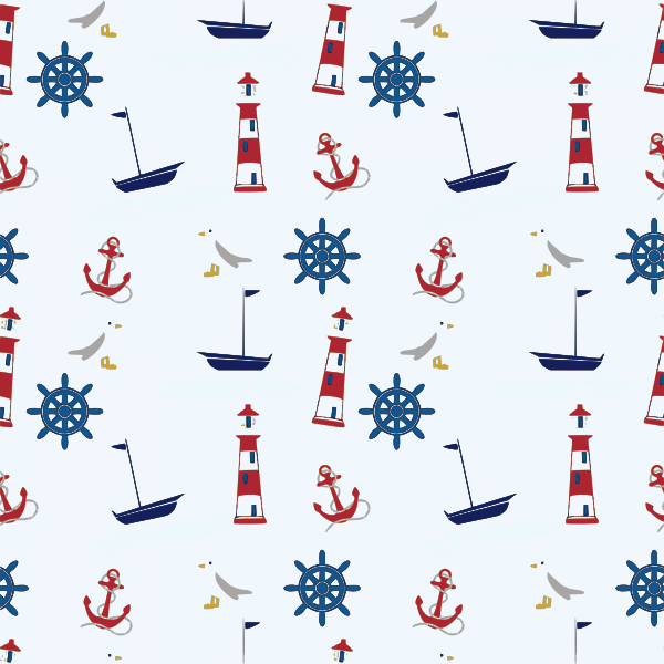 sea related  seamless pattern