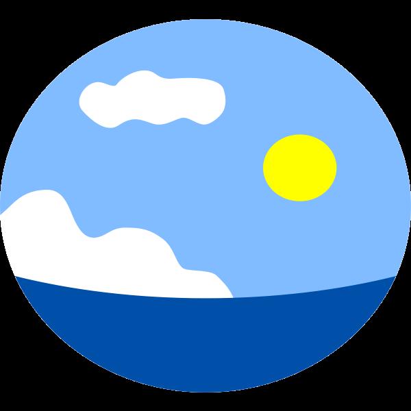 Sea scene vector image | Free SVG