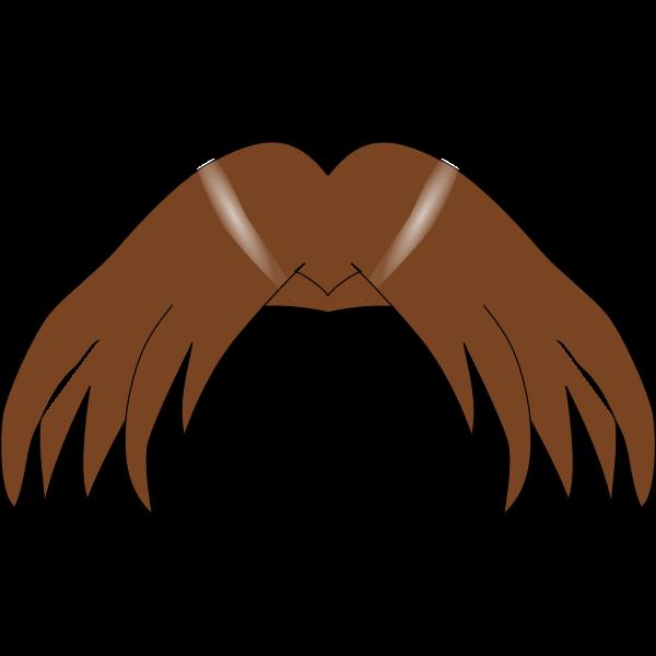 Vector graphics of brown manga hair element