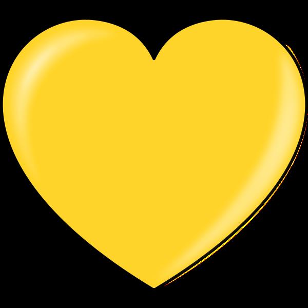 Vector illustration of gold heart