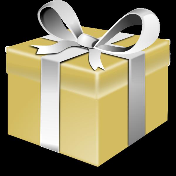 Gold present vector