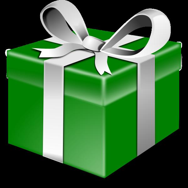 Green present vector
