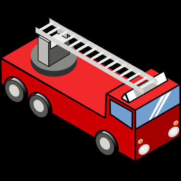 Fire emergency truck vector image