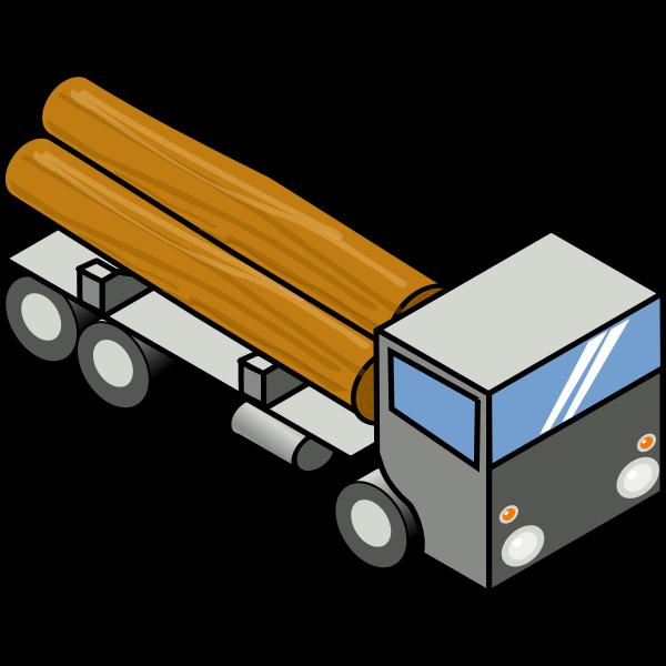 Vector clip art of flat bed truck