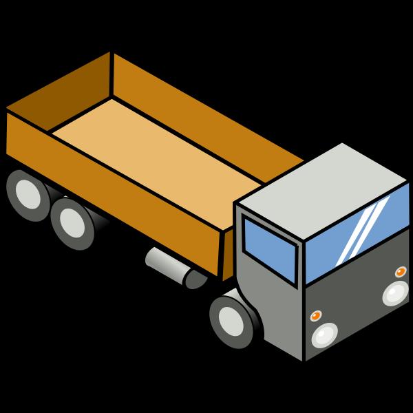 Cargo truck vector graphics
