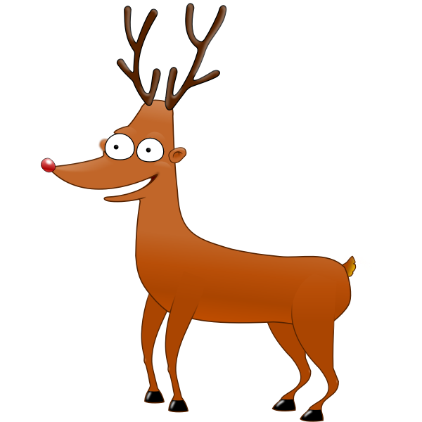 Rudolf The ReinDeer Vector Image