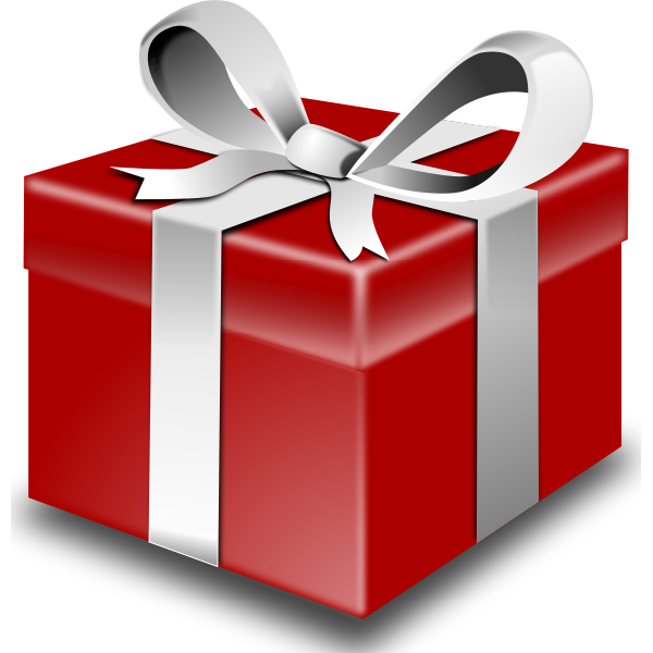 Red gift box vector graphics