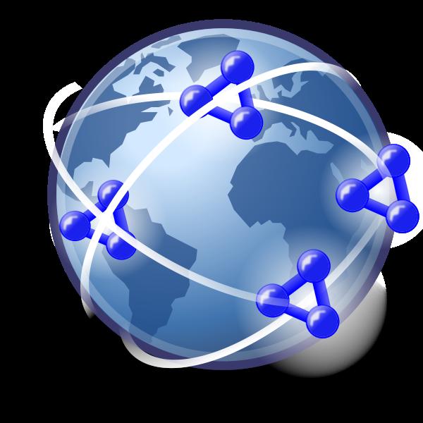 Semantic social network vector icon