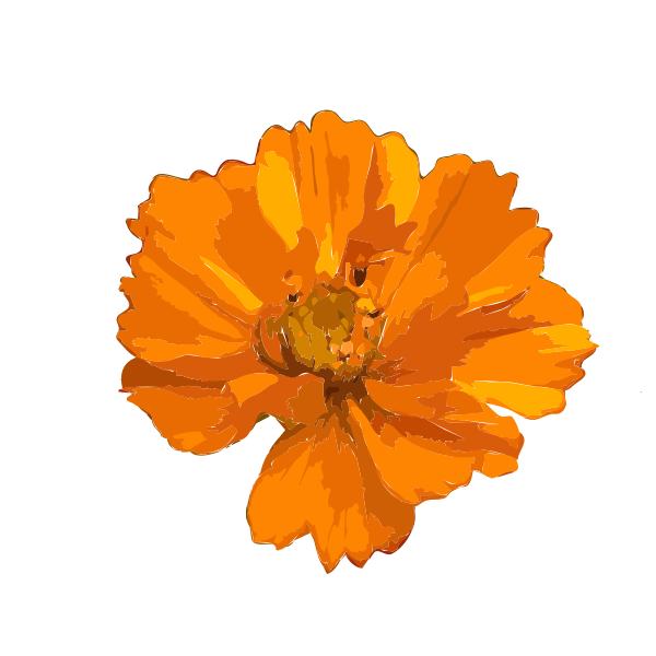 Painted yellow flower