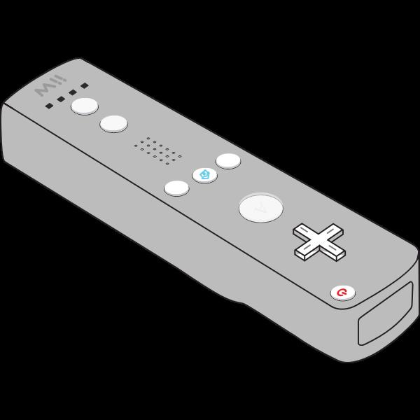 Vector image of Nintendo Wii remote control