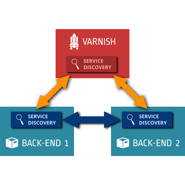 Varnish with service discovery diagram vector graphics