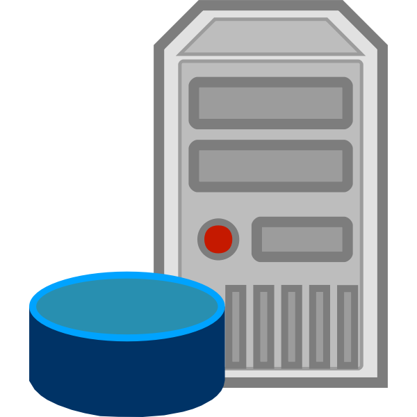 Server database icon vector image