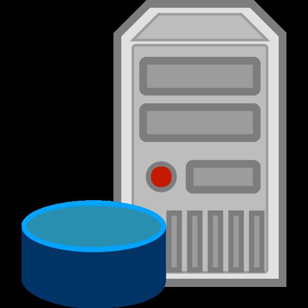 Server database icon vector image