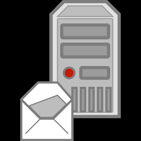 Server e-mail icon vector image