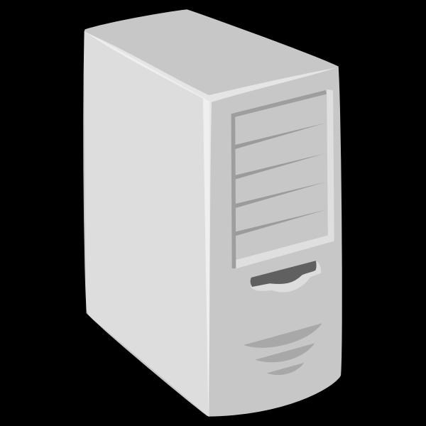 computer unit with thick black border vector clip art