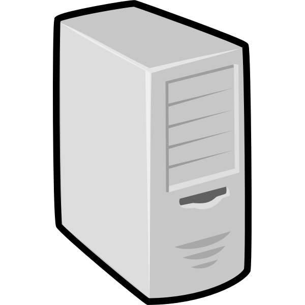 computer unit with thick black border vector clip art