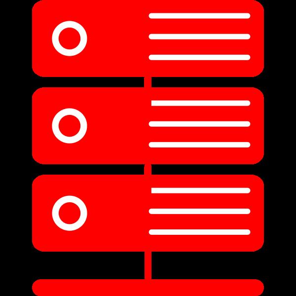 Red virtual server vector illustration