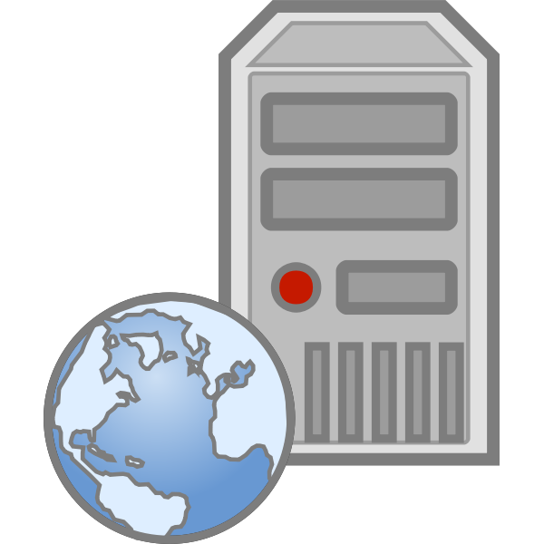 Web server icon vector image