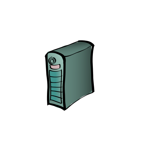 Server cartoon drawing