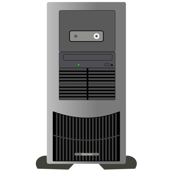 Computer tower with stand vector clip art