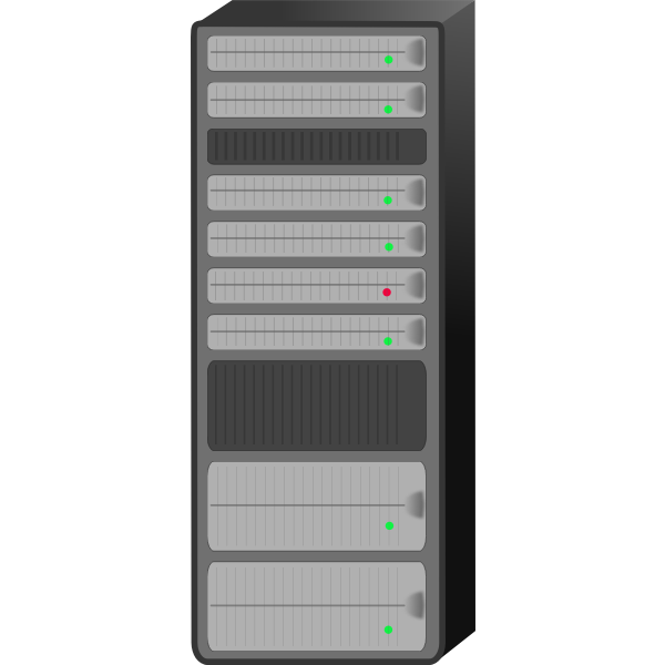 Server rack vector drawing