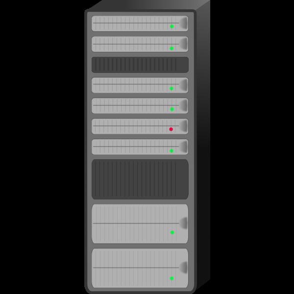 Server rack vector drawing