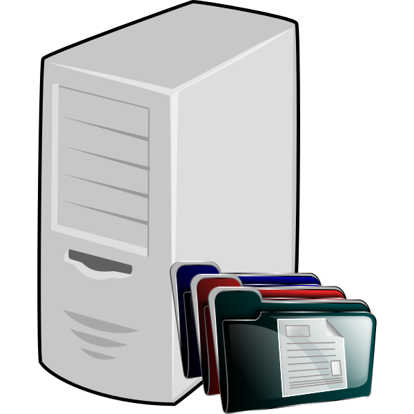 Document management server sign vector graphics