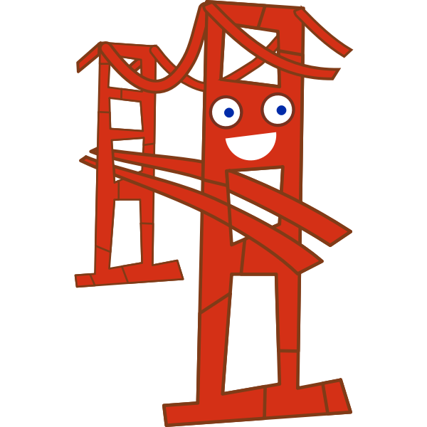 Cute San Francisco Golden Gate bridge vector image