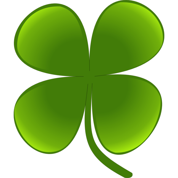 Green four leaf clover vector graphics