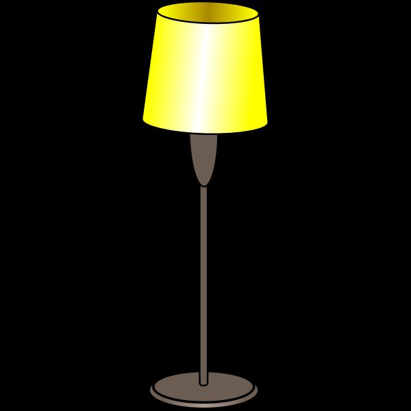 Floor lamp on