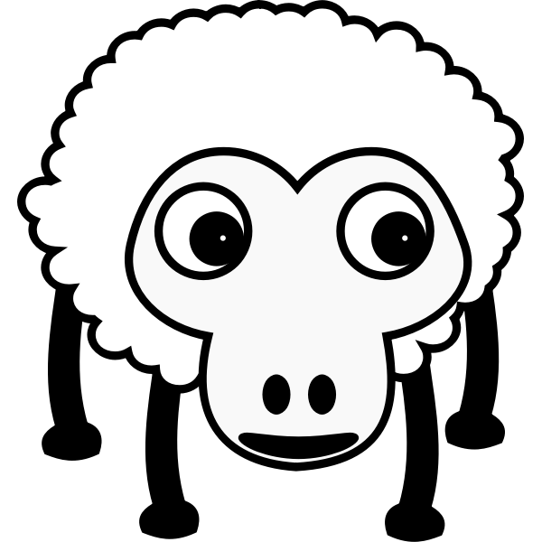 Caricature of sheep