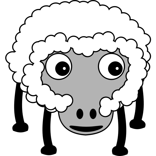 Caricature of a sheep