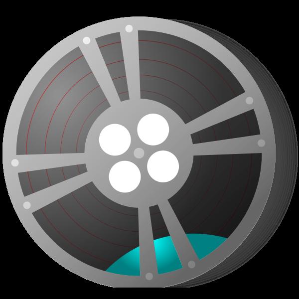 A film reel vector graphics
