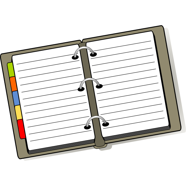 Notebook vector drawing