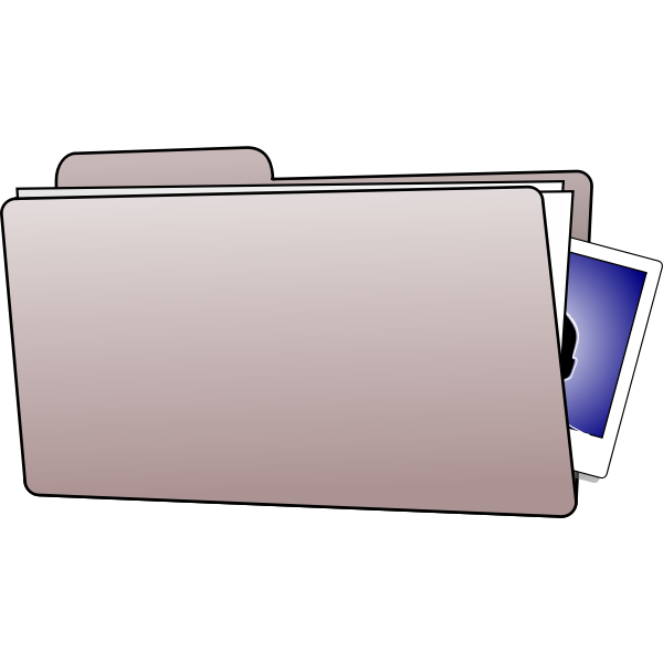 Office folder vector clip art