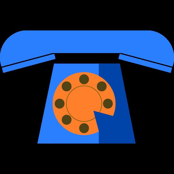 Blue phone vector icon