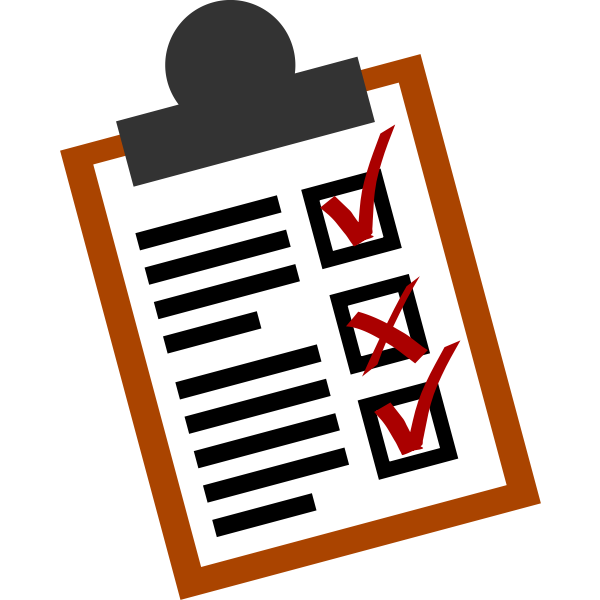 Checklist vector icon