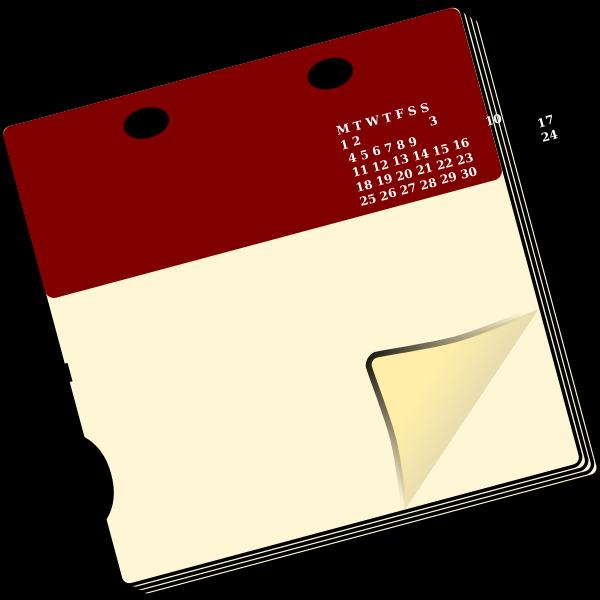 Spiral calendar icon vector clip art