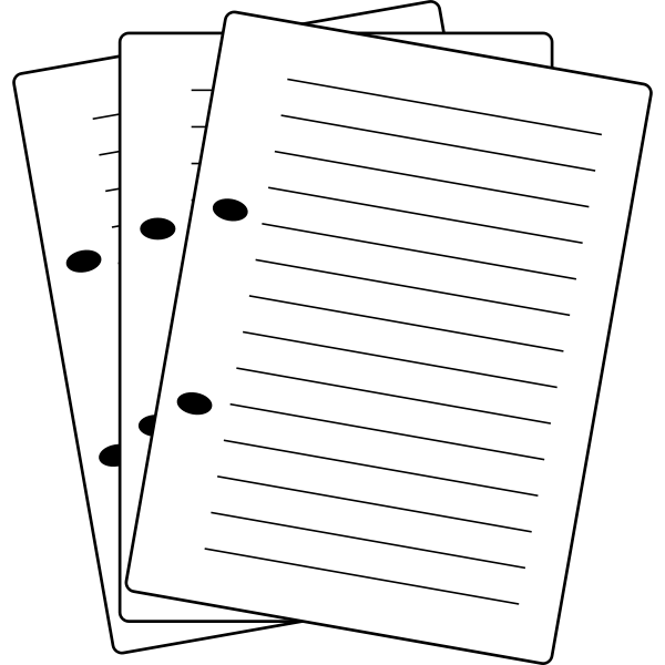 Vector illustration of notes