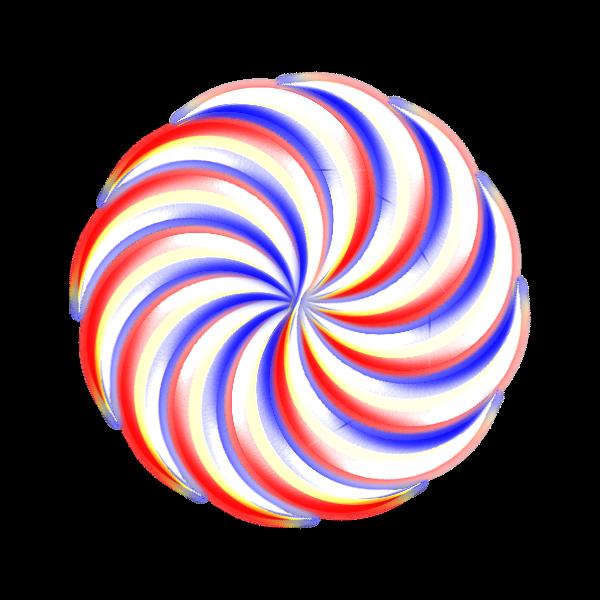 shiny rotated knob curve