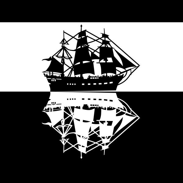 Tall white ship