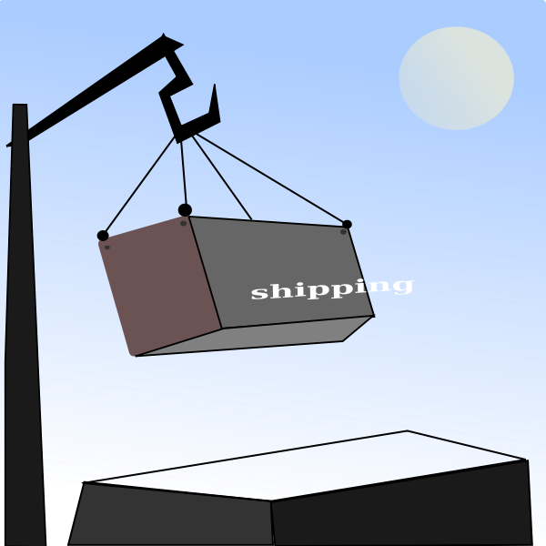 Shipping containers vector illustration