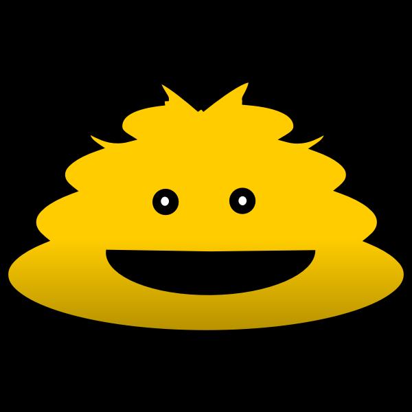 Yellow cartoon figure