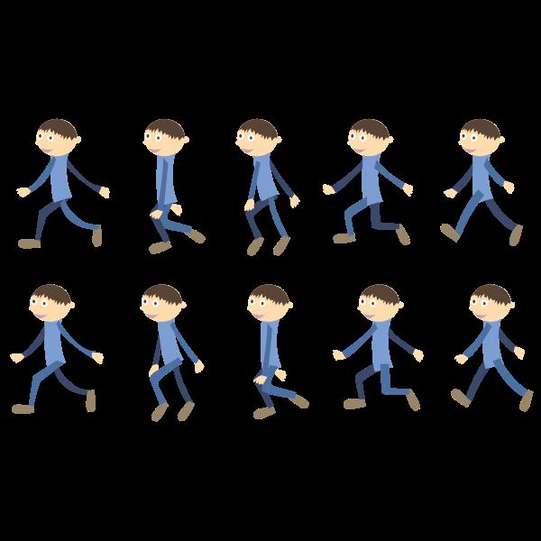 Walking boy