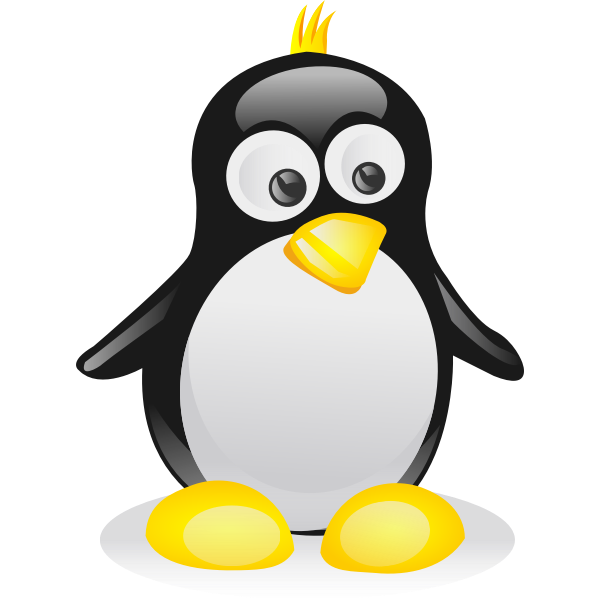 Color Linux mascot profile vector image
