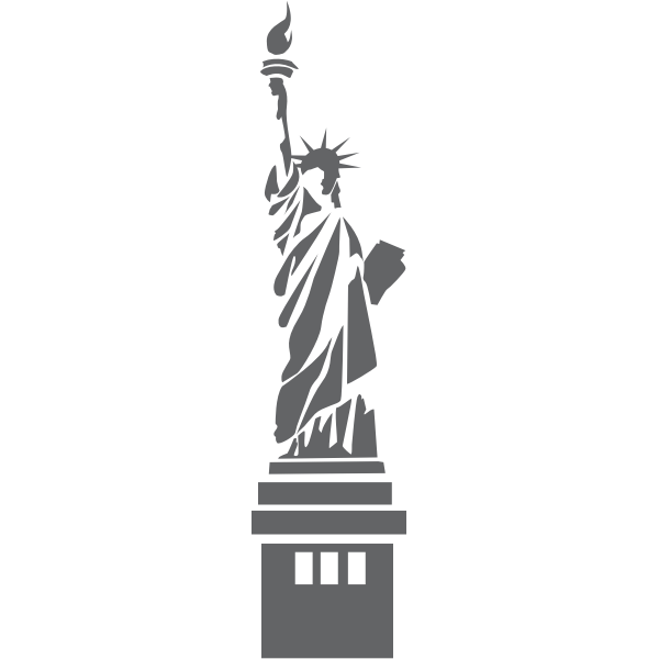Vector image of Statue of Liberty