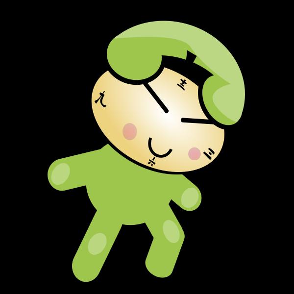 Phone clock character vector image