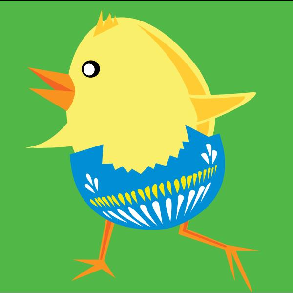 Easter chicken vector graphics