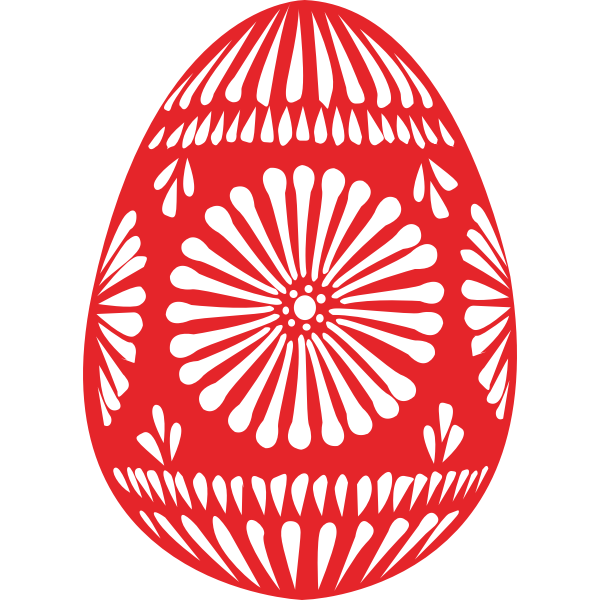 Vector drawing of Easter egg