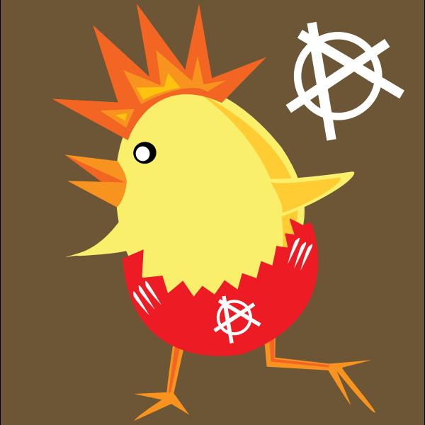 Punk chicken vector clip art